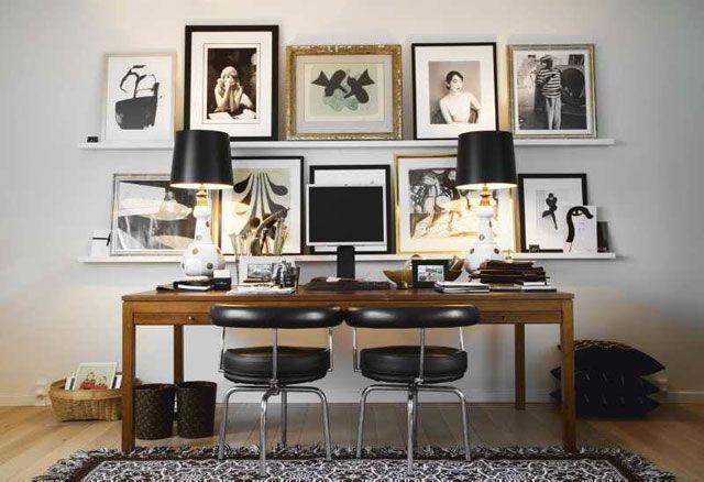 ideas para decorar la pared del escritorio