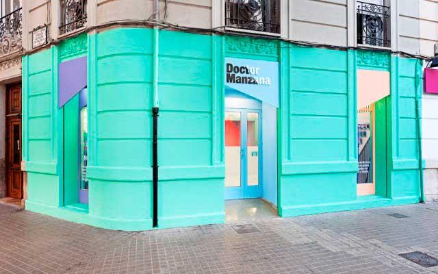 Decoración de las fachadas de las tiendas