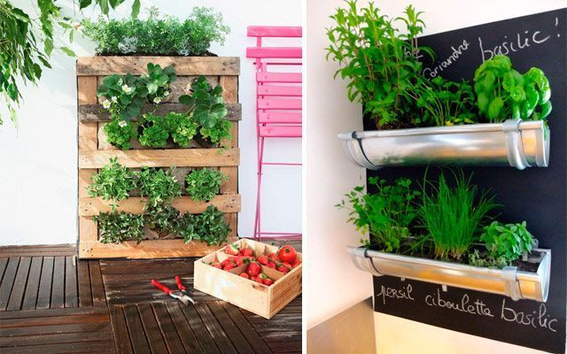 Ideas originales para decorar la cocina con plantas - Estanterias originales de pared ...