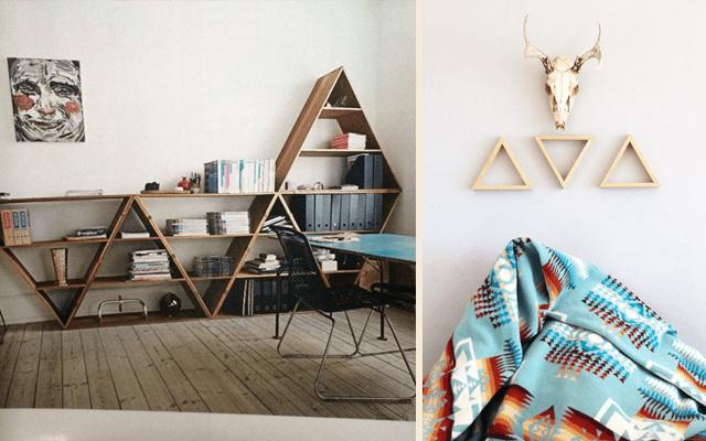 Cómo decorar con triángulos
