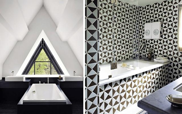Decoración con motivos geométricos