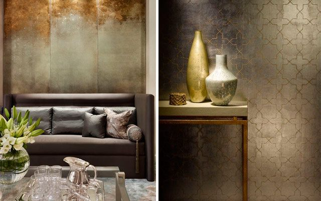 ideas para decorar con color metal
