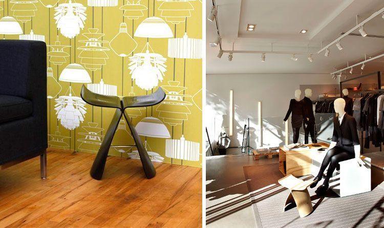 Aplicaciones a la decoración de interiores del taburete Butterfly