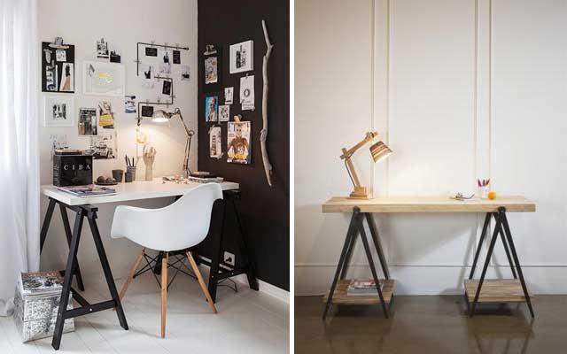Mesa de caballete para el despacho decofilia blog - Ideas para decorar un estudio ...