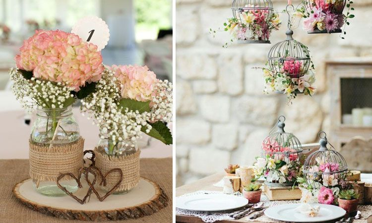 decoracin de bodas ideas para centros de mesa - Bodas Sencillas