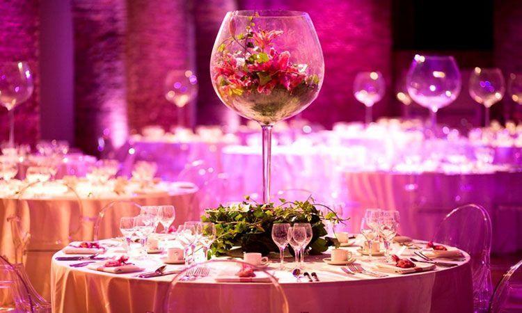 Decoración de bodas Ideas para centros de mesa