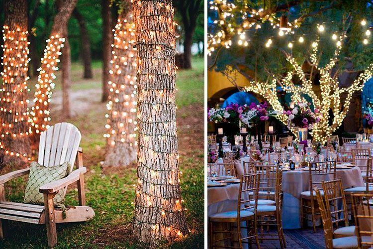 Iluminaci n para bodas al aire libre for Como iluminar un patio exterior