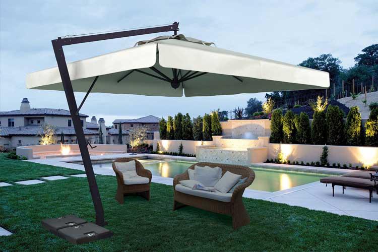 Sombrillas Modernas Para La Decoracion De Exteriores - Sombrillas-grandes-para-jardin