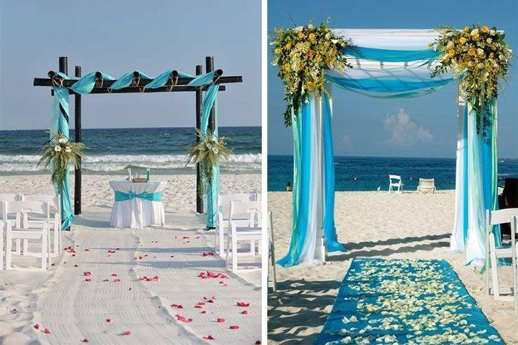 Bodas de playa de la arena al altar - Decoracion boda playa ...