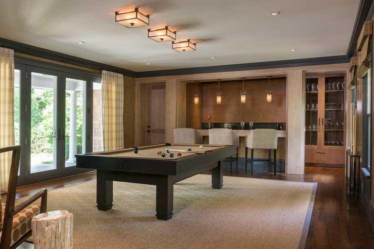 Mesa de billar en casa