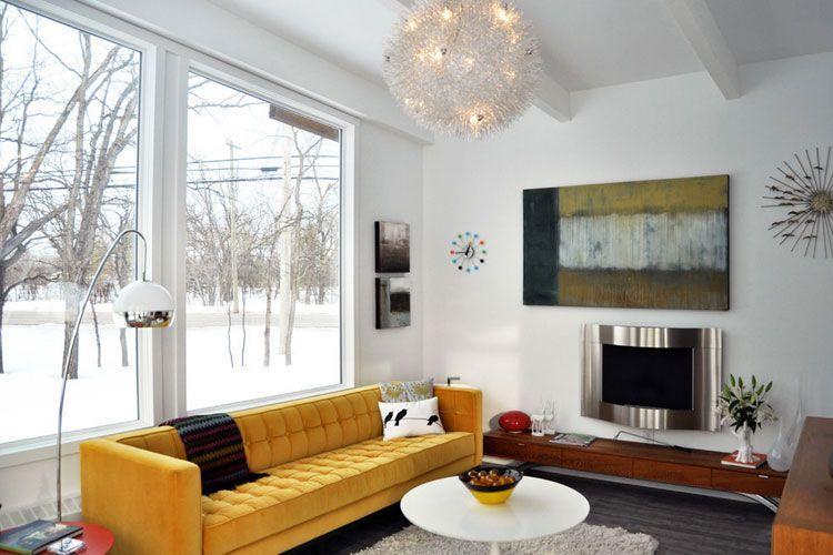 Decorar el salón con sofás de color
