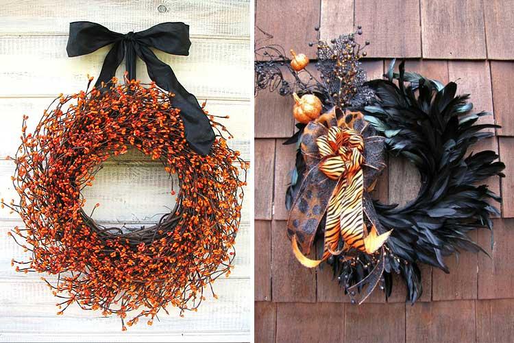 Coronas de halloween para una decoraci n tenebrosa for Decoracion de halloween para casas