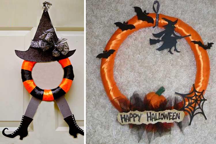 Coronas de halloween para una decoraci n tenebrosa for Ideas decoracion halloween