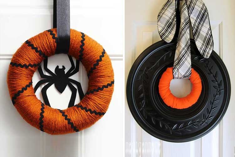 Ideas para decorar en Halloween con coronas