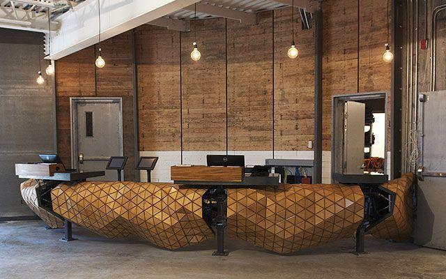 Diseño de oficinas - Mostrador de recepción