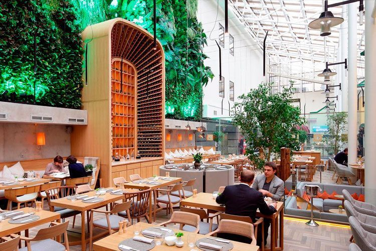 ideas para decorar restaurantes con plantas