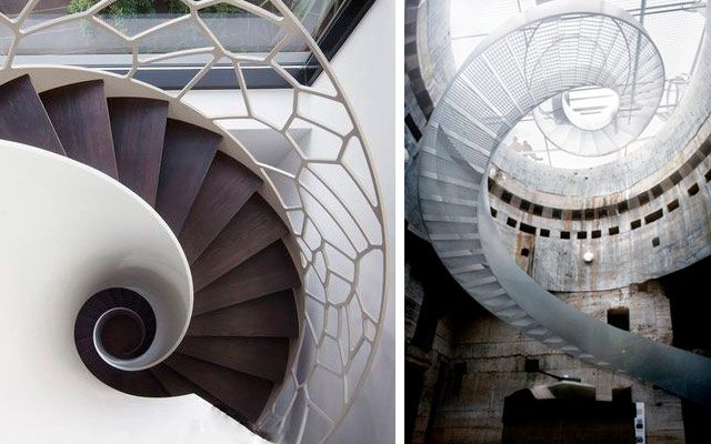 Ideas para decorar con escaleras de caracol originales
