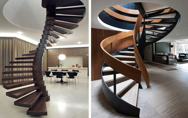 Ideas para decorar con escaleras de caracol originales for Decoracion duplex escaleras