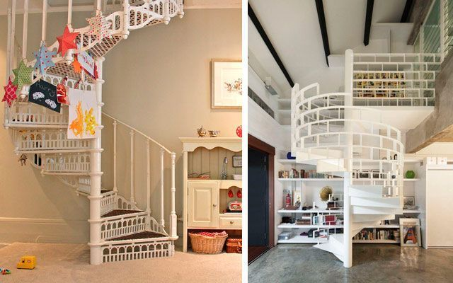 Ideas para decorar con escaleras de caracol originales - Como decorar una escalera interior ...