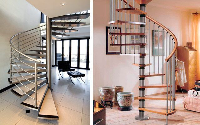 escaleras caracol originales