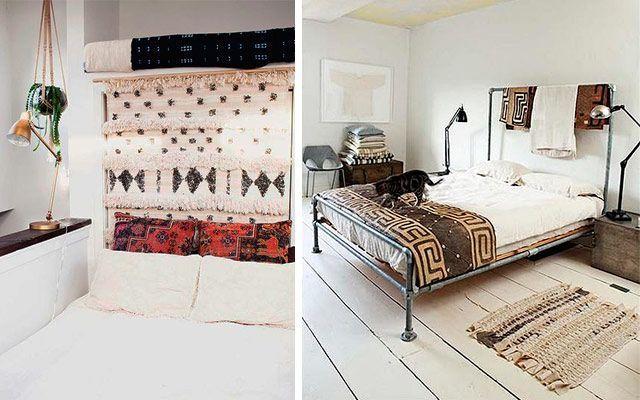 Cabeceros de cama con textiles para decorar el dormitorio - Cojin para cabecero de cama ...