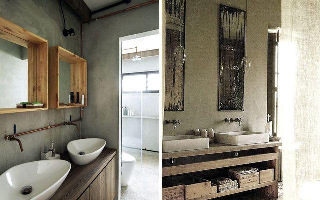 Muebles Baño Para Lavabos Sobre Encimera:Decoración de un baño para dos