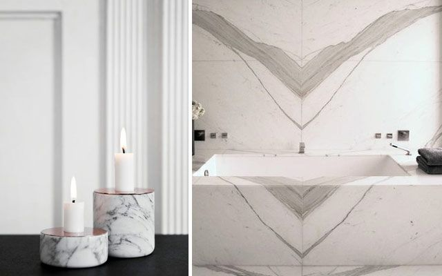 El mármol en la decoración de interiores