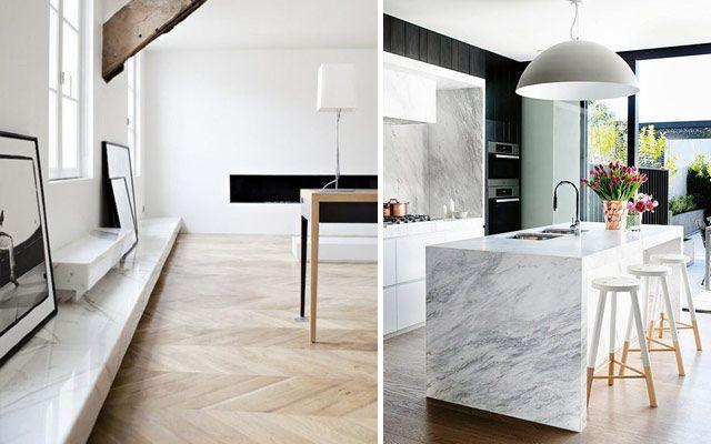 Las mil y una aplicaciones del mármol en diseño interior