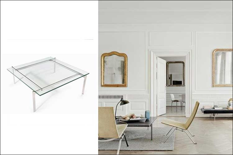 Coffee Table Pk61 - Poul Kjaerholm para Fritz Hansen