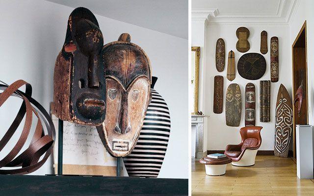 Las m scaras en la decoraci n de paredes y aparadores for Decoracion estilo africano