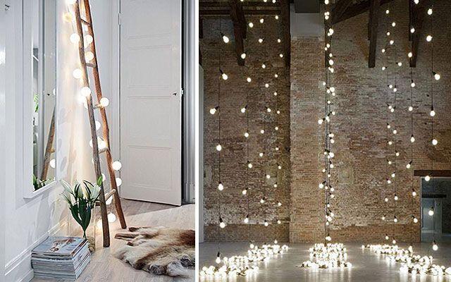 decoración con bombillas