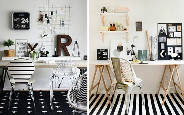 Ideas low cost para decorar la pared del escritorio - Escritorio abatible pared ...