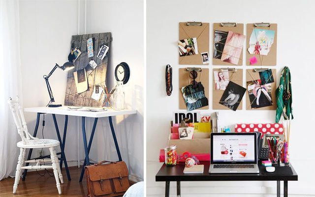 ideas low cost para decorar la pared del escritorio