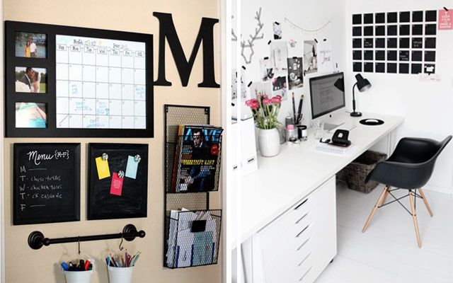 Ideas low cost para decorar la pared del escritorio - Decoracion con fotos en paredes ...