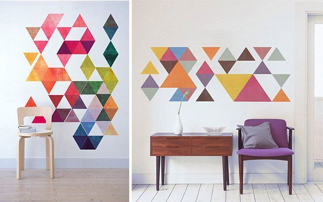 Display ideas ideas para pintar paredes con motivos - Formas de pintar una pared ...
