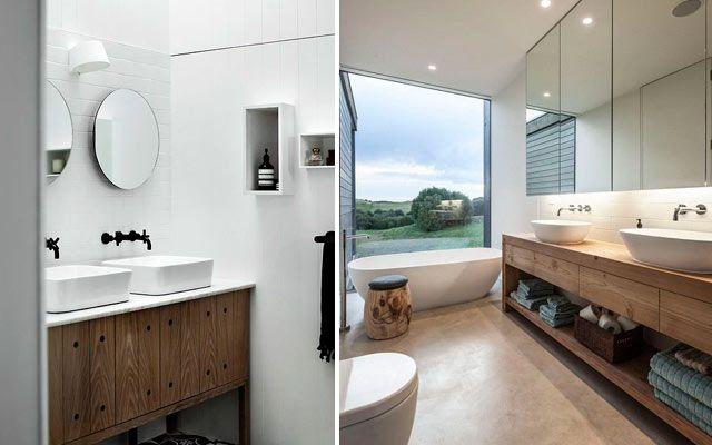 Muebles Baño Para Lavabos Sobre Encimera:Diseño de baños con lavabos sobre encimera