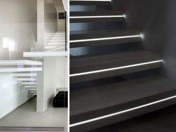 escaleras con iluminación integrada