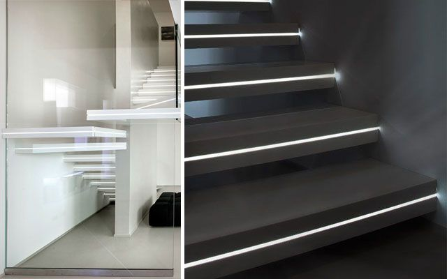 Ideas para decorar escaleras con luz - Escaleras con led ...