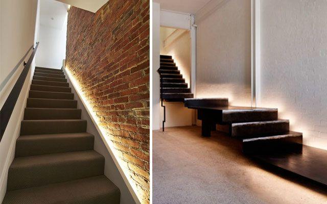 entegre aydınlatmalı merdivenler