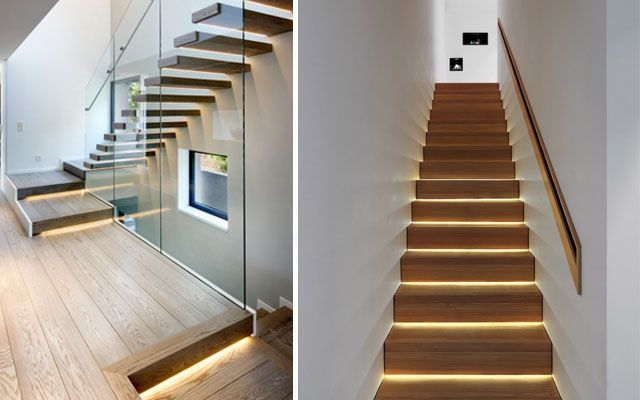 ideas para decorar escaleras con luz