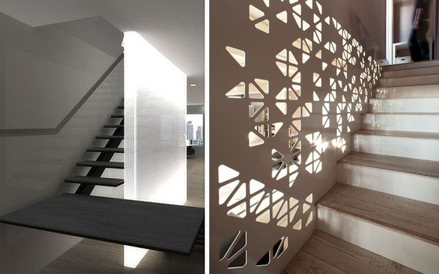 Ideas para decorar escaleras con luz for Adornos para paredes de escaleras