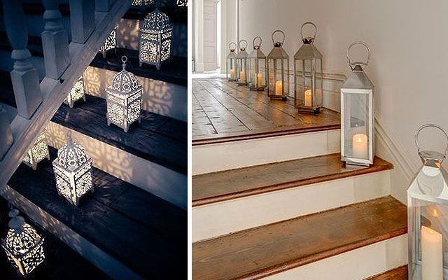 Ideas para decorar escaleras con luz - Como decorar una escalera interior ...