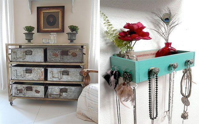 decoración con cajas