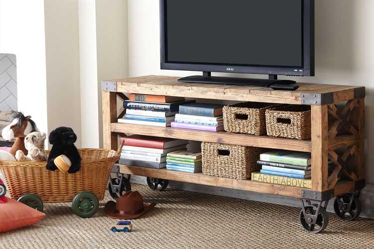 Mueble de televisión con ruedas
