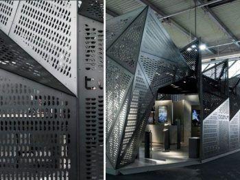 Diseño de stands de metal
