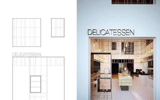 Proyecto de decoracion e interiorismo de la tienda Delicatessen en Shenzhen (China)