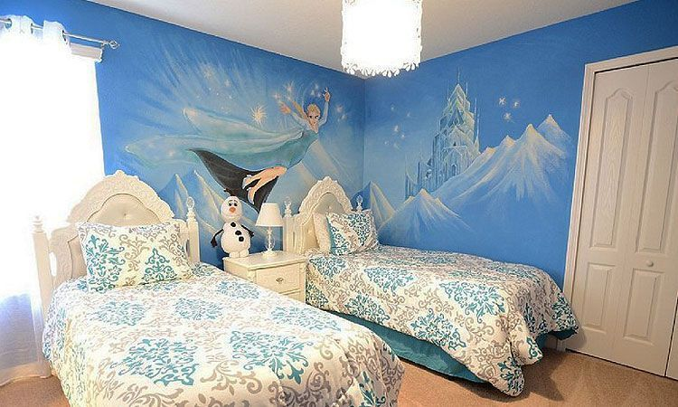 Decoraci n frozen para habitaciones infantiles decofilia for Donde venden murales para pared