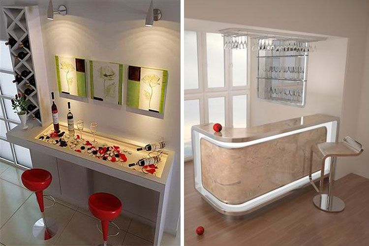 Ideas para instalar un bar en casa decofilia - Barra de bar para salon ...