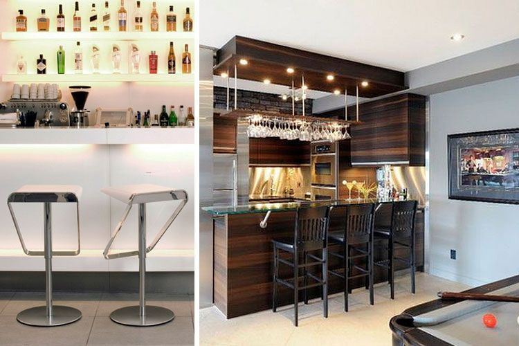Ideas para instalar un bar en casa decofilia - Barras de bar para salon ...