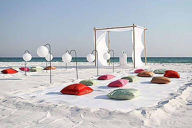 Decoración de bodas de playa: de la arena al altar